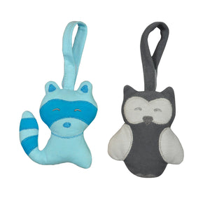 Green Sprouts Adventure Friends made from Organic Cotton (2pk)-Aqua/Grey Set-3mo+