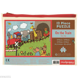 Mudpuppy Pouch Puzzle - 12 piece travel puzzle in storage pouch