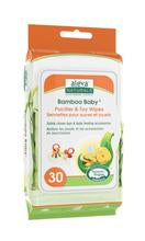 Aleva Naturals Bamboo Baby Pacifier & Toy Wipes- 30ct