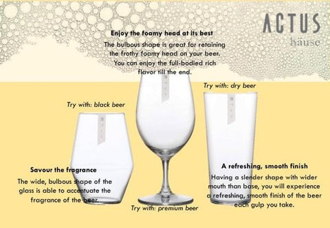 Thin Beer Glass Set
