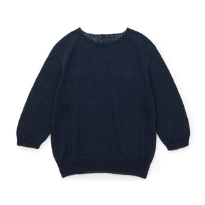 100% Linen Simple & Stylish Lightweight Navy Ladies Pullover