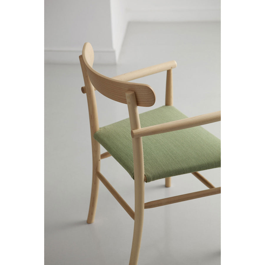 Lightwood ArmChair - Cushioned Seat