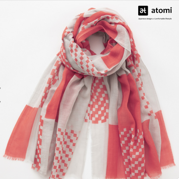 Hand-Printed Scarf - atomi shop