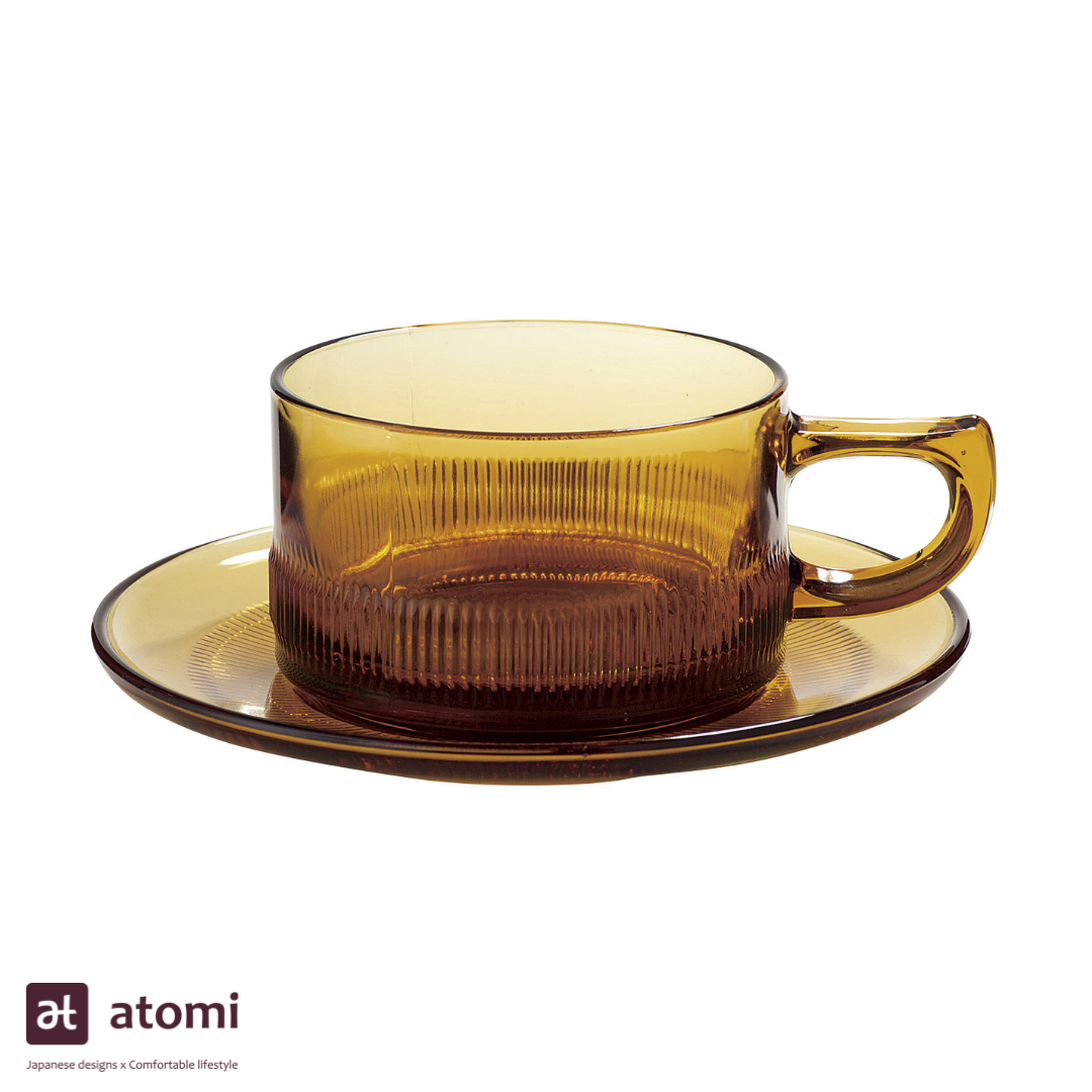 Heat Resistant Coffee Cup and Saucer