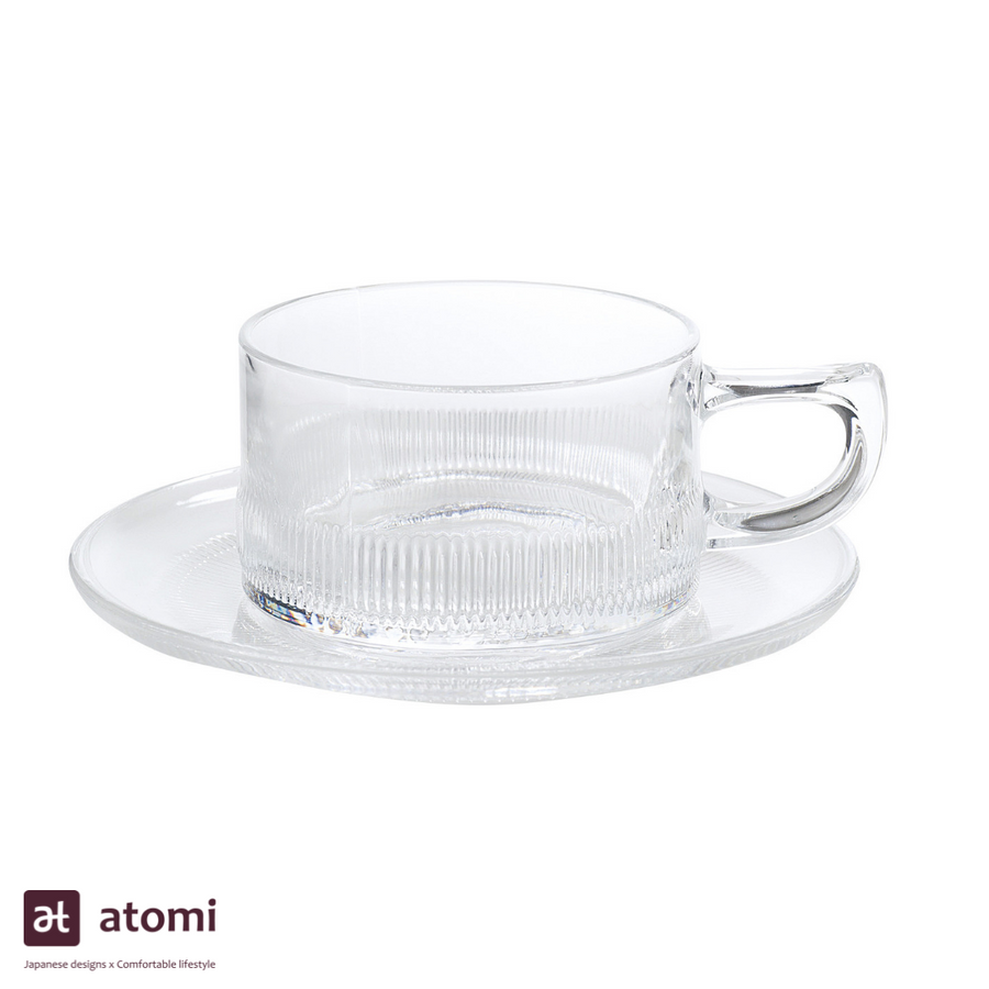 Heat Resistant Coffee Cup and Saucer - atomi shop