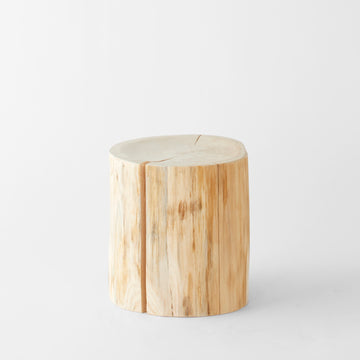Natural Japanese Hiba Wood Rounded Stool