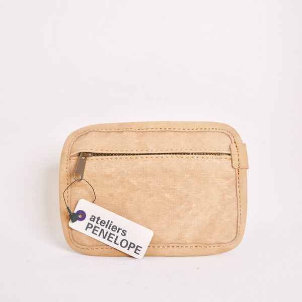 Handy Leather Canvas Palm Size Pouch
