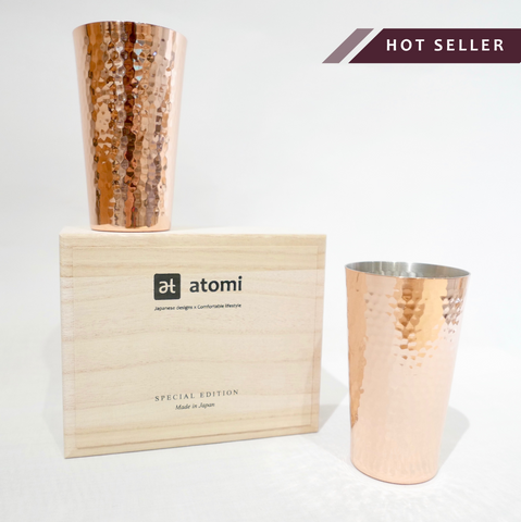 Stylish & Contemporary Copper Tumbler Set for Cold Drinks_Made in Japan