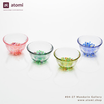 Sake Glass with Dotted Base- 4 Seasons - atomi shop