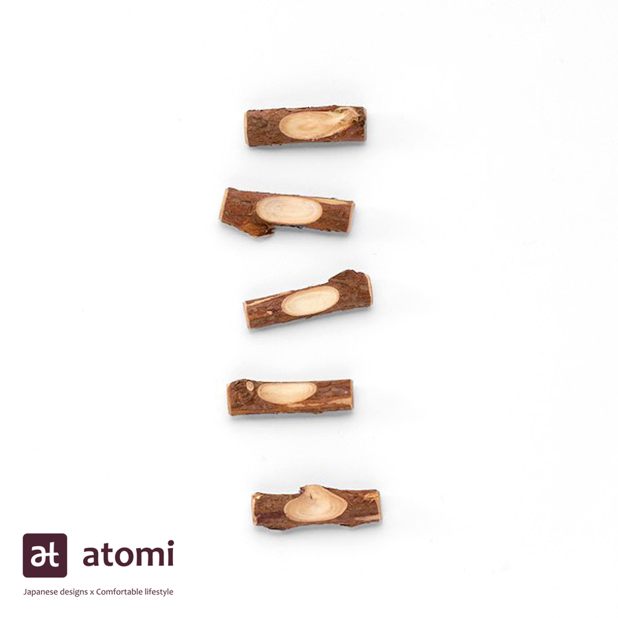 Natural Japanese Hiba Wood Chopstick Rests - atomi shop