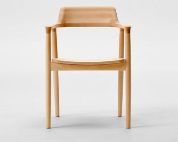 Hiroshima Arm Chair Wooden Seat Beech Wood - atomi shop