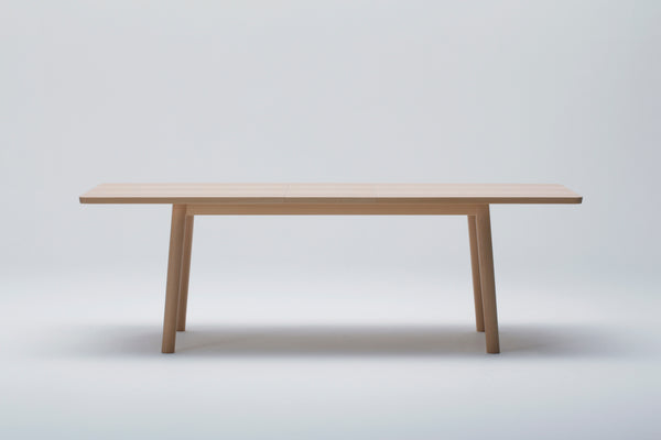 Hiroshima Extendable Beech Wood Dining Table Designed by Naoto Fukasawa