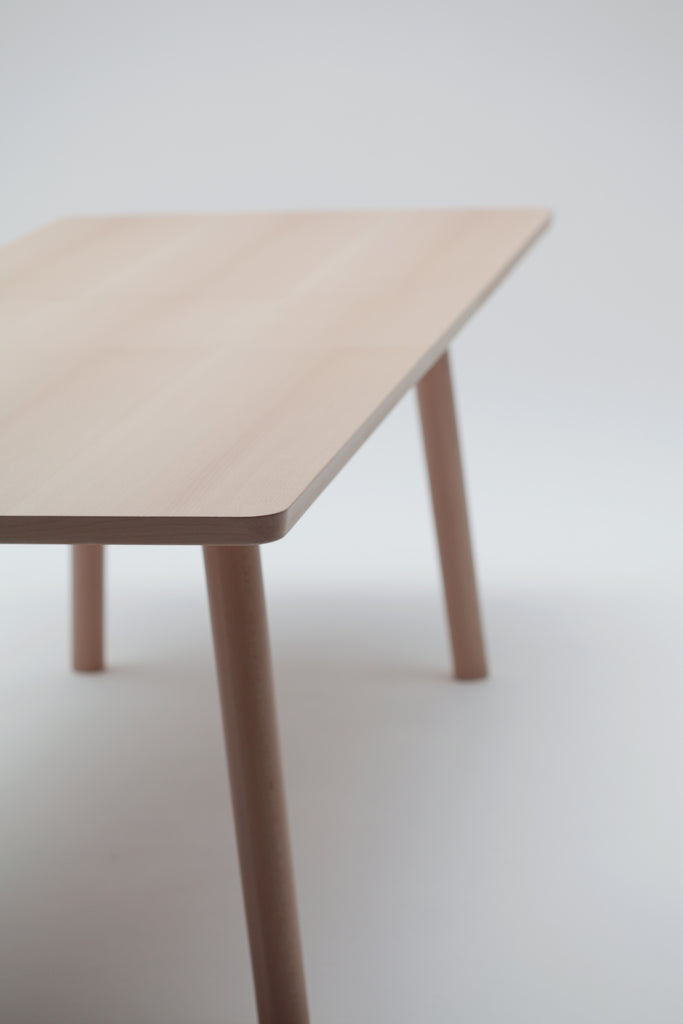 Hiroshima Extendable Beech Wood Dining Table Designed By Naoto - Extendable beech dining table