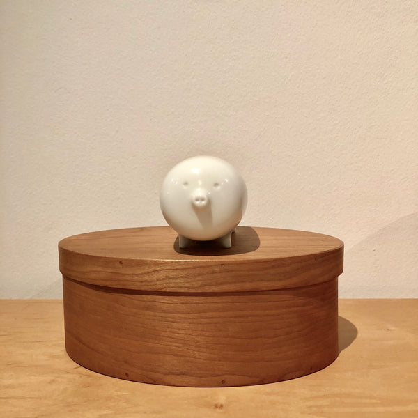 Porcelain Pig Ornament/Paper Weight/Desk Toy