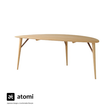 White Wood Leaf Table - atomi shop