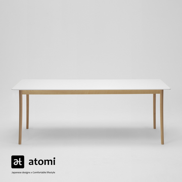 Lightwood Dining Table with White Corian Top - atomi shop