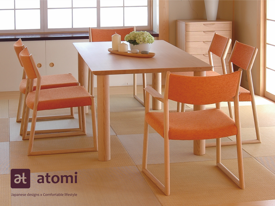 Natural Brown Arm Chair - atomi shop