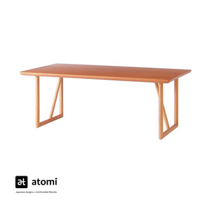 Natural Brown Table with U-shape Legs