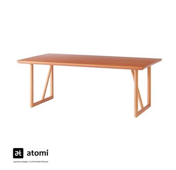 Natural Brown Table with U-shape Legs - atomi shop