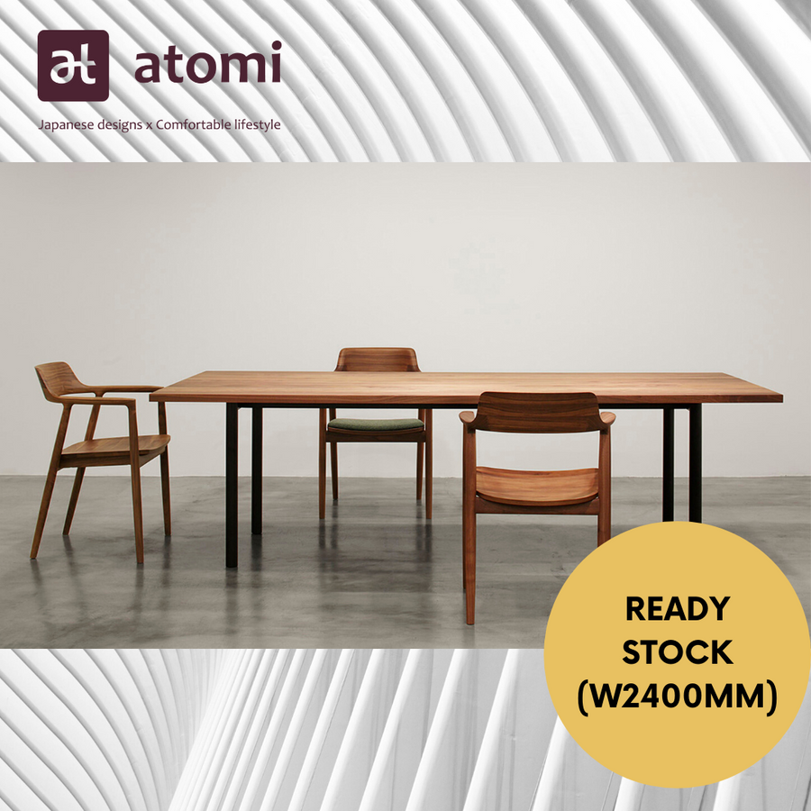 Malta Dining Table - Steel Legs (2.4 meter Ready Stock) - atomi shop