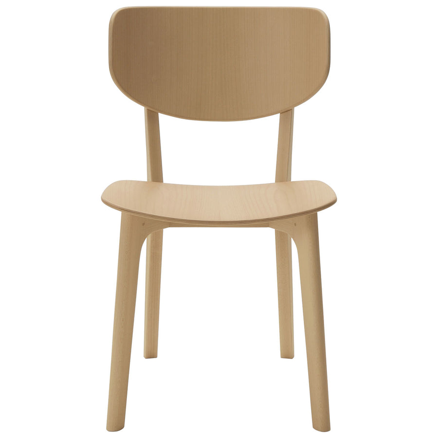 Roundish Chair - Wooden Seat Dining Chair