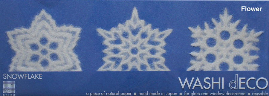 Washi Deco Snow Flake (M) - atomi shop