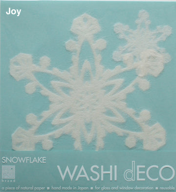 Washi Deco Snow Flake (L) - atomi shop