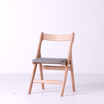 White Wood Adjustable Work Chair