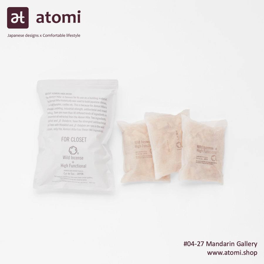 Natural Japanese Hiba Wood Closet Sachets - atomi shop