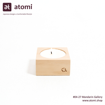 Natural Japanese Hiba Wood Candle 03 - atomi shop