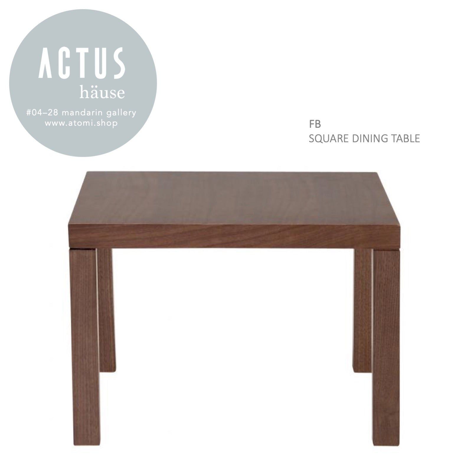 Fb Square Dining Table Atomi Shop