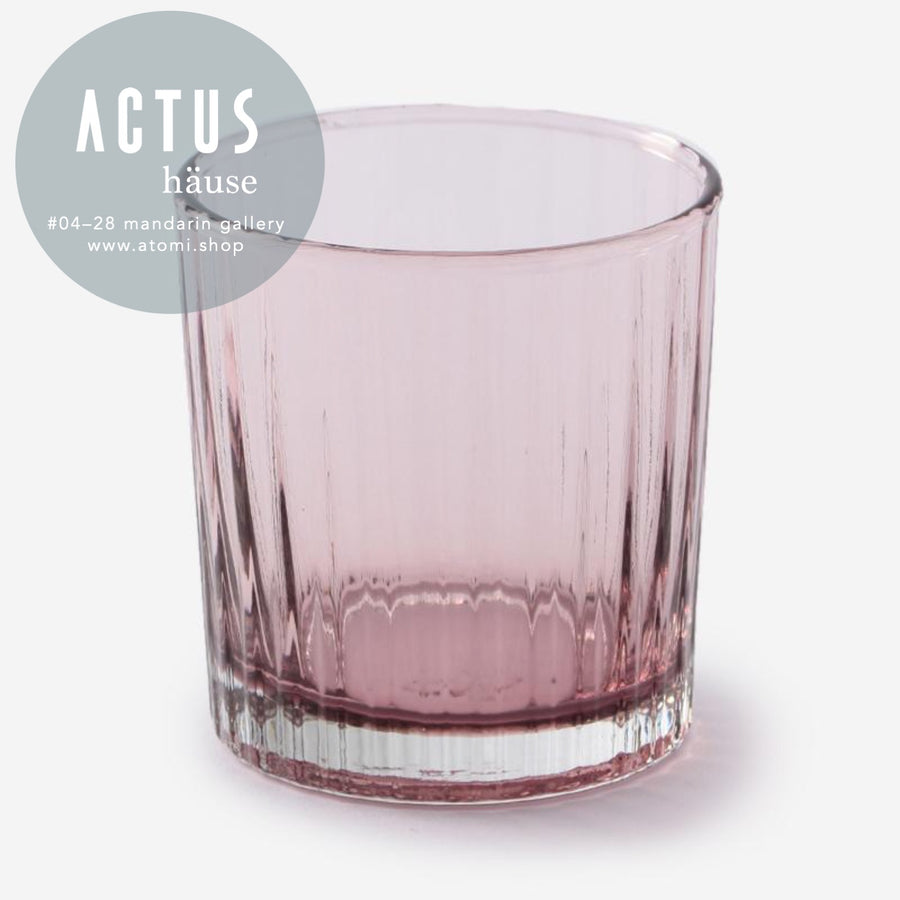 Eastern Glass Ribbed Tumbler - atomi shop