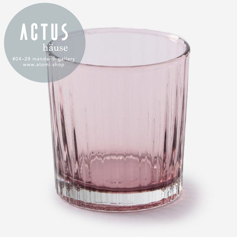 Eastern Glass Ribbed Tumbler