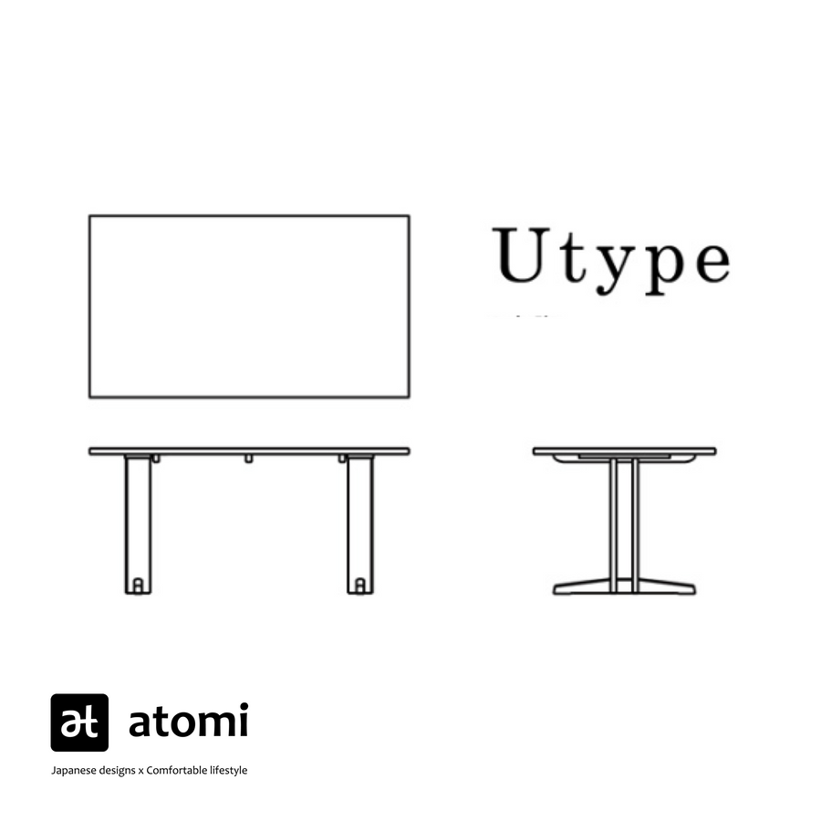 Forms U-Type Table - atomi shop