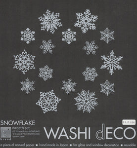 Washi Deco Snow Flake Wreath Set