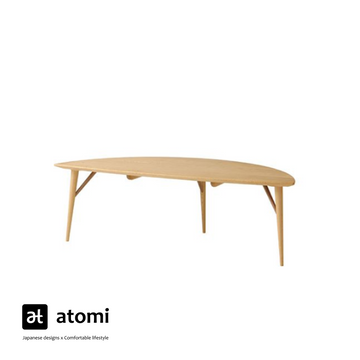 White Wood Leaf Living Table - atomi shop