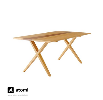 White Wood Dining Table - atomi shop