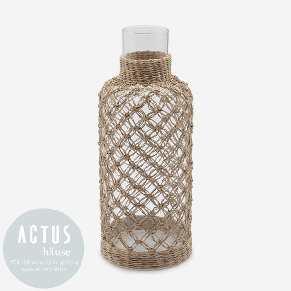 Hand-Blown Woven Glass Jar