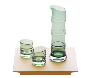 Bamboo Sake Glass Set