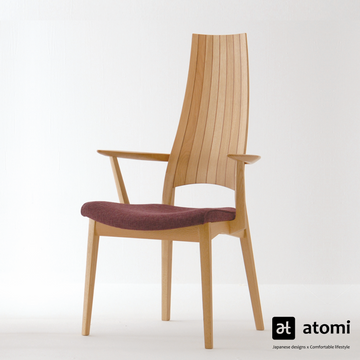 White Wood High Back Chair - atomi shop