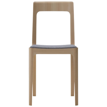 Hiroshima Armless Chair - Fabric Cushioned Seat Dining Chair