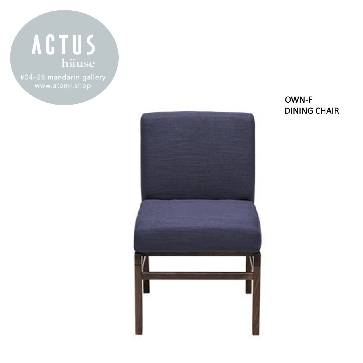 OWN-F Dining Chair - Wooden legs