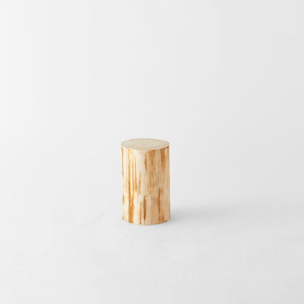 Natural Japanese Hiba Wood Side Table - atomi shop