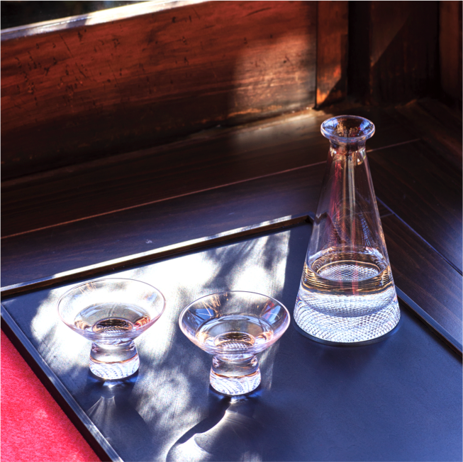 Edo Glass Sake Set - atomi shop