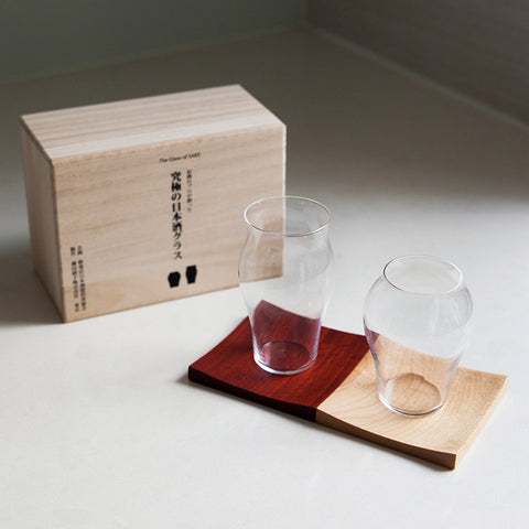 Special Sake Glass Set (for Junmai-shu & Junmai daiginjo)