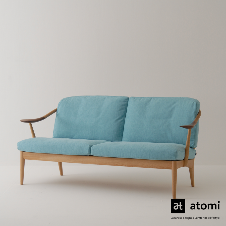 White Wood Sofa | Two Seater - atomi shop