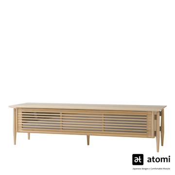 White Wood TV Board - atomi shop