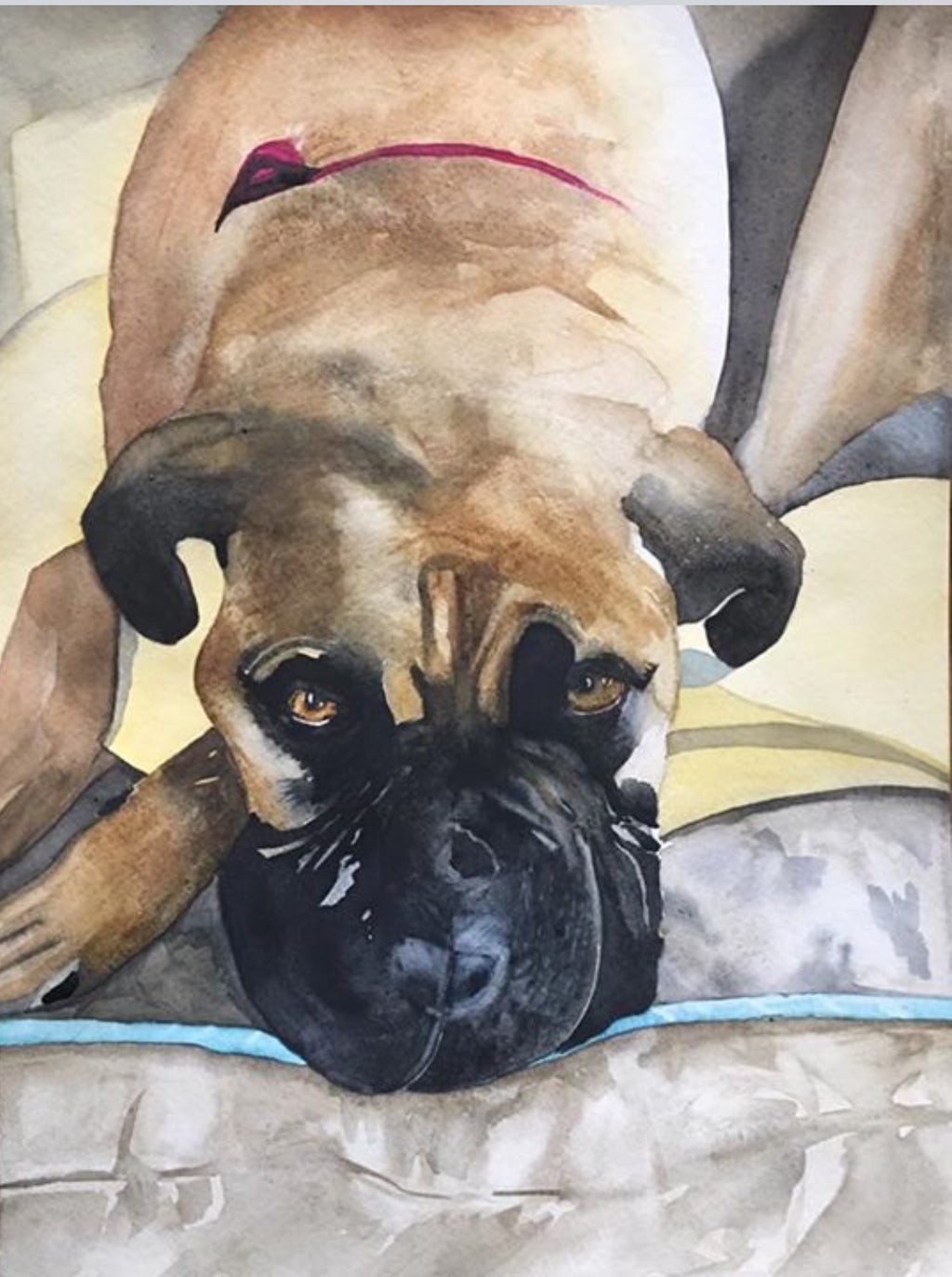 Mastiff -- Giclee print on panel