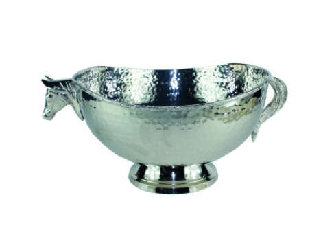 Horse Fruit Bowl Nickel Plated
