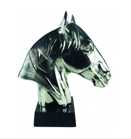 Neptune Horse Head Bust In Aluminium Nickel Polished
